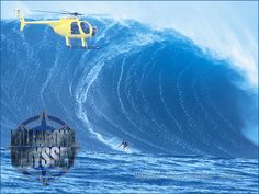 Mike Parson's Epic Wave while Tow in surfing at Jaws, Billabong Odyssey Giant Waves, Big Waves, Ocean Waves, Big Wave Surfing, Surf Wave, Wind Surf, Billabong, Picture Video, Cool Pictures