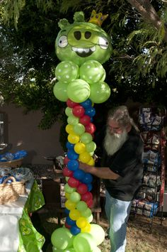 angry bird balloon tower