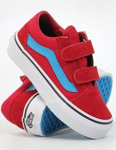 Vans Kids Old Skool V Chili Rood zijn de bom in 2013, deze schoenen staan op de mat te wachten, je aantrekt en dan en weet meteen deze dag kan niet stuk!...