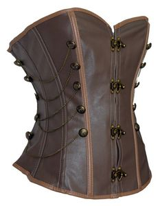 Corselet Overbust Sexy Brown Steam Punk Corset with G-string sexy women corset dress set steampunk waist control corsets Steampunk Corset, Steampunk Costume, Leather Buckle, Leather Chain, Shapewear, Sexy Corset, Cool Costumes, Halloween Costumes, Halloween Ideas