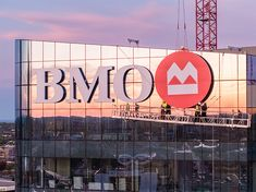 Behold the new signage on the almost-complete BMO Tower in Downtown Milwaukee