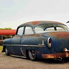 The title pretty much says it, but if it's whitewalls, pinstriping, hot rods, rat rods or pinups. I fucking love that shit! Rat Rods, Rat Rod Cars, Chevrolet Bel Air, Classic Hot Rod, Classic Cars, Rusty Cars, Old School Cars, American Motors, Old Trucks