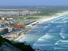 Muizenberg Beach, Cape Town, from Boyes Drive.
