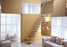 Gamia Mini Plus Space Saver staircase kit is the original versatile high quality space saving staircase. High quality components blend with flexible and vers. Space Saver Staircase, Narrow Staircase, Loft Staircase, Staircase Design, Stair Design, Staircase Ideas, Rustic Staircase, Spiral Staircase, Small Space Design