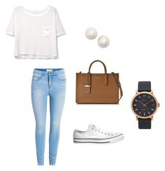 """""""day out"""" by cheergrl10114 on Polyvore featuring MANGO, Converse, DKNY, Marc Jacobs and Kate Spade"""