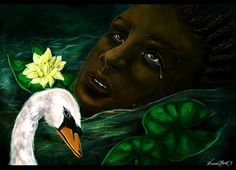 For the Love of a Swan by Briana Monet Walker http://madelftk.deviantart.com/ http://inkandgrease.tumblr.com/
