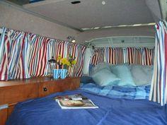 4 berth 1979 VW camper van.  Add pillows to Sally