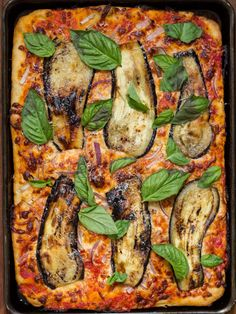 Sicilian Pizza with Eggplant | Recipes | NoshOn.It