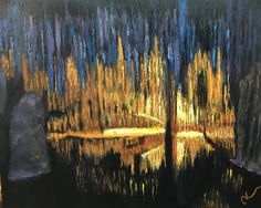'Caverns' knife painting by Andre M. Knife Painting, Buy Art Online, Original Art For Sale, Local Artists, Art School, Still Life, Art Gallery, Wildlife, Student