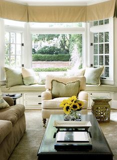 Bay window seating living room