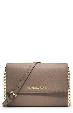 d685a3c6134f7 Would love it even more in black MICHAEL Michael Kors  Large Jet Set   Saffiano Leather Crossbody Bag