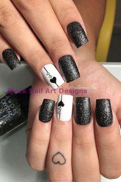 54 Elegant Black Nail Art Designs and Ideas Loading. 54 Elegant Black Nail Art Designs and Ideas Black Nail Designs, Winter Nail Designs, Winter Nail Art, Winter Nails, Popular Nail Designs, Gel Nail Art Designs, Cute Nails, Pretty Nails, My Nails