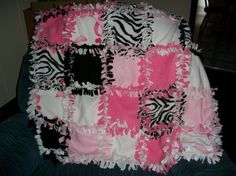 3c80ad7fcb Items similar to Breast Cancer Awareness Tie Blanket on Etsy. No Sew Fleece  ...