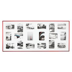 "Buy Nielsen Pixel Collage Multi-aperture Frame, 18 Photo, 4 x 6"" (10 x 15cm), Red Online at johnlewis.com"