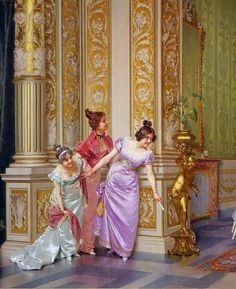 """The Unseen Audience"" (detail) by Vittorio Reggianini (1858-1938)."