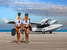 My kind of team Aircraft Sales, Up Auto, Plane And Pilot, Amphibious Aircraft, Float Plane, Flying Boat, Crop Top Bikini, Nose Art, Aviation Art