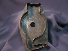 Antique Tin Cookie Cutter - Cat Shape - $177