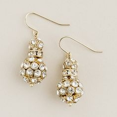 Snow Sparkle Earrings by jcrew: $38 #Earrings #jcrew