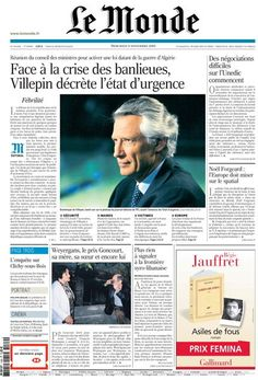 Newspaper Cover Page Layout | Le Monde presents a mix of colorful infographics, solid typography and ...