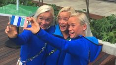 2016-08-14 Estonian triplets, from left, Leila, Liina and Lily Luik to run in Women's Marathon
