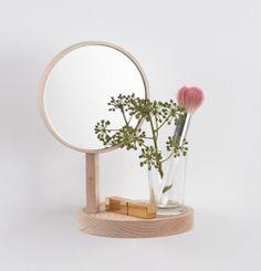 #Inga #Sempé #miroir #mirror #videpoche #coiffeuse #wood #poetic
