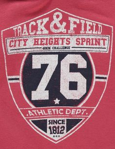 track and field athletic dept. varsity graphic tshirt