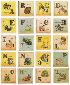 Free printable vintage nursery block images