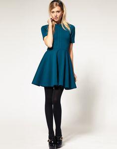 Skater Dress with Short Sleeve