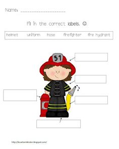 Kindergarten Fire Safety Theme Unit FREEBIES!