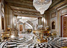 Холл из интерьерного проекта Villa Belloni.