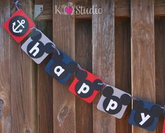 K (heart) Studio: Mickey Mouse Birthday & Nautical Name Banner Sailor Birthday, Baby Boy First Birthday, Mickey Mouse Birthday, First Birthday Parties, 3rd Birthday, First Birthdays, Birthday Ideas, Nautical Names, Nautical Mickey