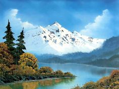 Peaceful Landscape Paintings by Bob Ross  - Bob Ross  Landscape Paintings : Peaceful Lake  16