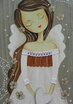 A 54 pieces jigsaw puzzle from Jigidi Angel Images, Angel Pictures, Christmas Angels, Christmas Crafts, Jigsaw Puzzle, Angel Drawing, Art Diary, I Believe In Angels, Angel Art
