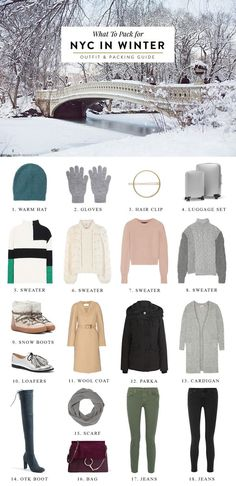 What to Pack for New York If you're visiting New York City over the holidays or anytime in winter, you'll want to bundle up! New York gets pretty cold in the winter time, especia…