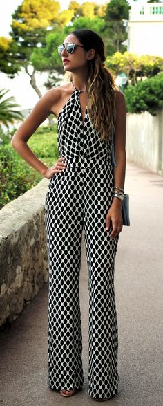 8208d595f9 Soraya Bakhtiar is wearing a geometric patterned jumpsuit from Diane Von  Furstenberg Jumpsuit Diane Von Furstenberg