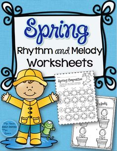 50 Rhythm and Melody Worksheets that are perfect for spring. So much fun and great for assessment!