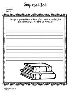 """""""SOY ESCRITOR/RA"""" TRABAJAMOS LA ESXPRESIÓN ESCRITA Y LA ESCRITURA CREATIVA DE PROFE MIRICLETA -Orientacion Andujar Spanish Classroom Activities, Teaching Spanish, Literacy Worksheets, Reading Anchor Charts, School Items, Reading Workshop, Reading Comprehension, Writing Prompts, Graphic Organizers"""