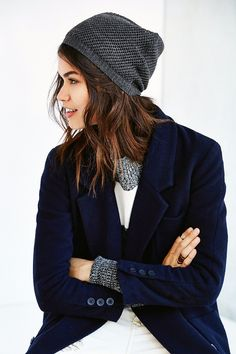 Open-Weave Slouch Beanie - Urban Outfitters