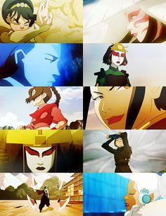 Avatar: the Last Airbender is a great example of children's television with strong female characters who are complex and well written.  Don't let the fact that it's a children's show dissuade you from watching it, it's a fantastic show.