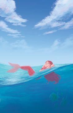 Real Mermaids, Mermaids And Mermen, Mermaid Drawings, Mermaid Art, Disney Art, Walt Disney, Mermaid Cartoon, Unicornios Wallpaper, Artist Problems