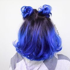 35 Different colors and blues match different effects bold blue hairstyle Blue Hair Blue blues bold colors effects hairstyle match Beautiful Hair Color, Cool Hair Color, Aesthetic Hair, Hair Dye Colors, Dye My Hair, Grunge Hair, Ombre Hair, Pretty Hairstyles, Blue Hairstyles