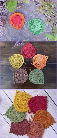Crochet Leaf Coaster Free Pattern and Tutorial