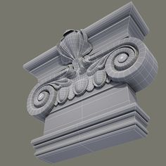 Capital Element 64 Model available on Turbo Squid, the world's leading provider of digital models for visualization, films, television, and games. Cornice Design, Gypsum Decoration, 3d Studio, Gothic Architecture, New Pins, Home Decor Accessories, Decorative Boxes, Lion Sculpture, Statue