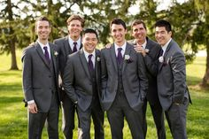 Grey Suits and Purple Ties