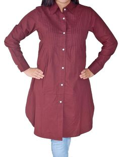 I like the long lines and Westernized style of this casual kurti for modest dress / hijab.