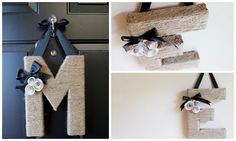 Home Made Modern: Craft of the Week: Jute-Wrapped Initial