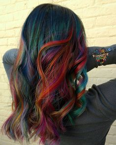 Kasey O'Hara Skrobe Vivid color specialist MD For call only artist Pulp riot mermaid Independent Educator Vivid Hair Color, Gorgeous Hair Color, Cool Hair Color, Hair Colors, Color Blue, Colours, Funky Hairstyles, Pretty Hairstyles, Pelo Multicolor