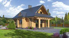 Piękny dom z bali drewnianych  w stylu górskim. Tani w realizacji i w dodatku ze sporą piwnicą. Zobacz więcej.