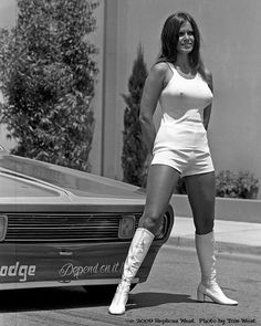 girls Vintage drag racing