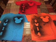 Home-made Disney shirts for family vacation